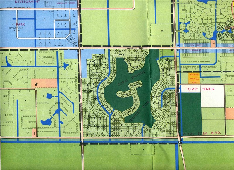 Map Of Coral Springs Florida.Coral Springs Florida Master Development Plan With Maps Photos