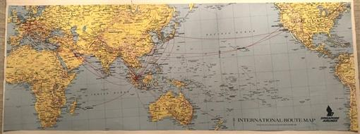Singapore Airlines International Route Map 31 1/2\