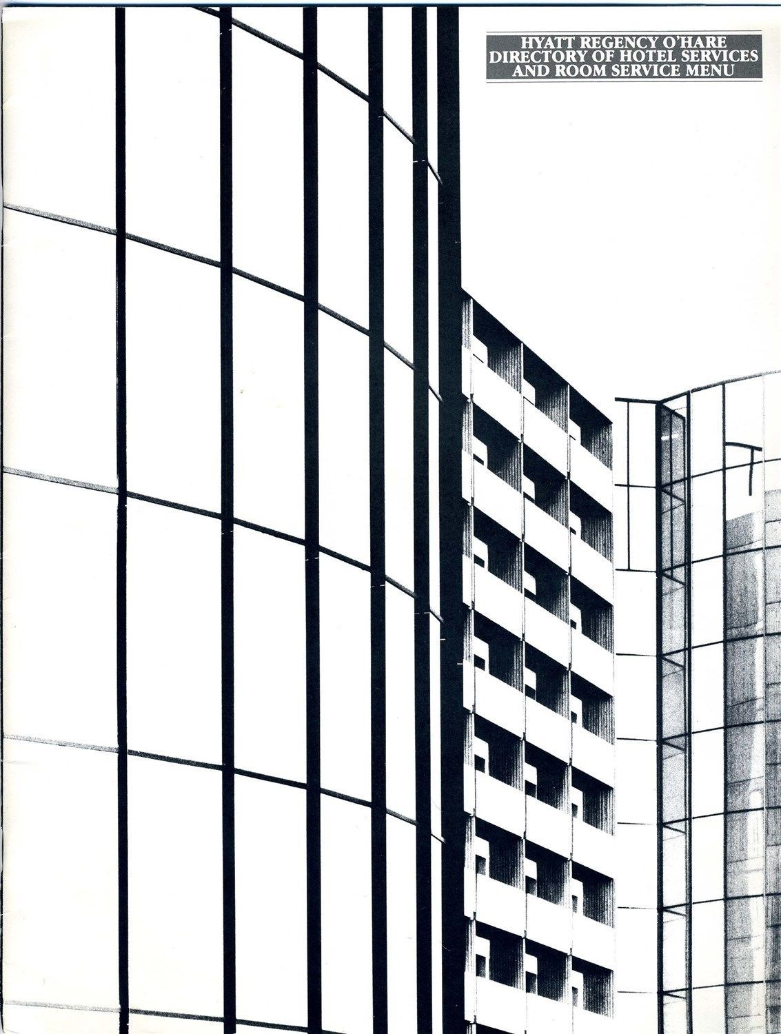 Details about Hyatt Regency O'Hare Directory of Hotel Services & Room  Service Menu 1980's