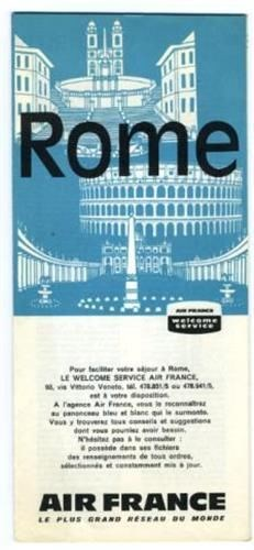 air france travel brochure and map of rome italy 1962 ebay