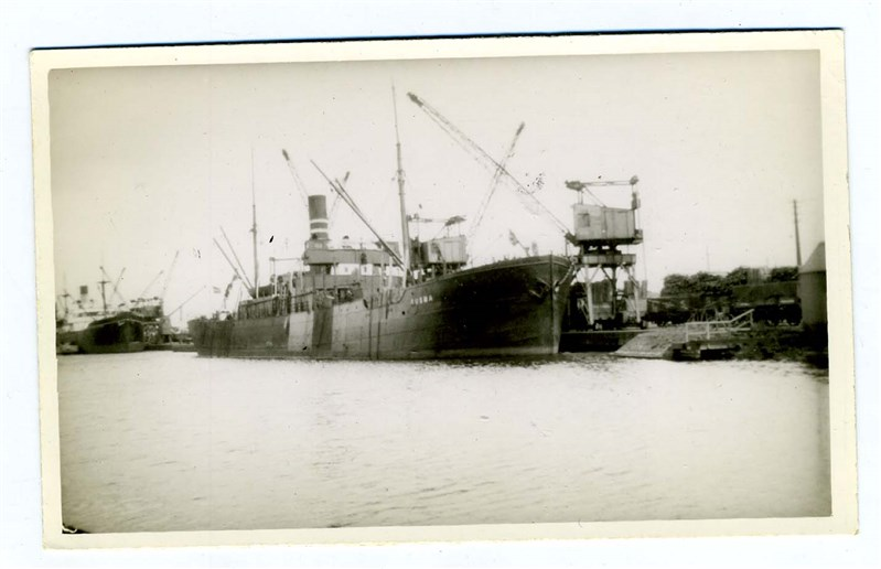 Details about Ausma Latvian Cargo Ship Real Photo Postcard 1941 Sunk by  Mine in the Baltic